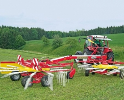 Eurotop Twin Rotor Rakes With Side Swath